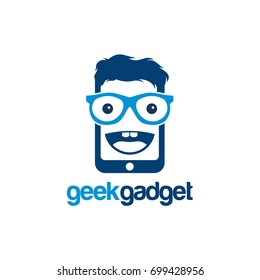 Geek Gadget Logo, Cool Gadget logo template designs vector illustration