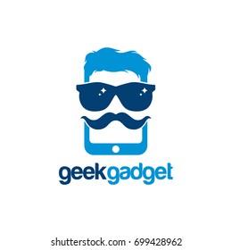 Geek Gadget Logo, Cool Gadget logo template designs vector illustration