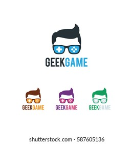 geek games logo vector