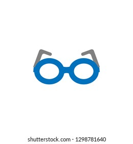 Geek and glasses icon. Element of education icon for mobile concept and web apps. Detailed Geek and glasses icon can be used for web and mobile