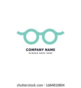 Geek Glasses Vector Logo. Creative abstract icon mark design template. Abstract logotype concept element sign shape.