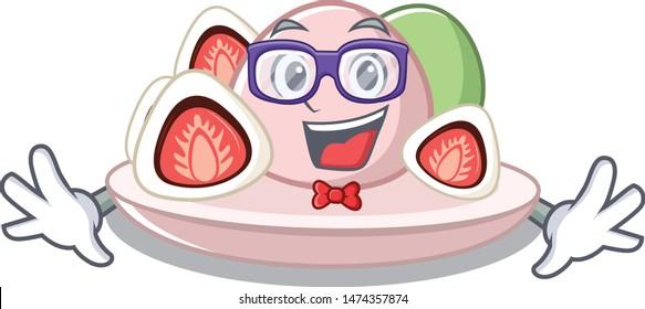 Geek ichigo daifuku with the cartoon shape