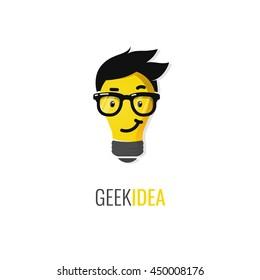 Geek idea logo or icon.