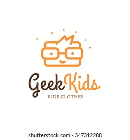 Geek Kids Logo Template