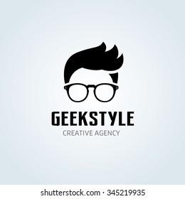 Geek Logo,Vector Logo template