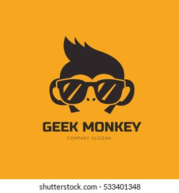 Geek Monkey Logo Template.