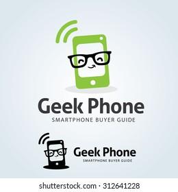 Geek Phone Logo template