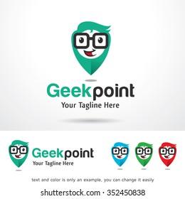 Geek Point Logo Template Design Vector