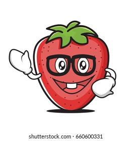 Geek strawberry cartoon character collection
