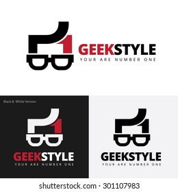 Geek style vector logo