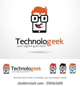 Geek Technology Logo Template Design Vector