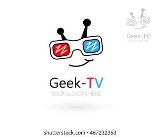 Geek Tv Logo Images, Stock Photos & Vectors   Shutterstock