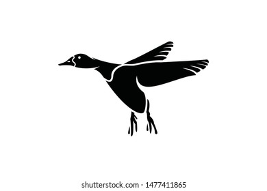 geese vector for logo or icon ready to use