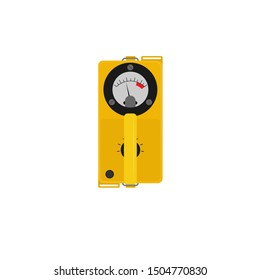 geiger counter in flat style.vector illustration.isolated on white background.10 eps.