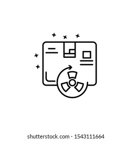 Geiger counter radiation icon. Simple line outline vector of nuclear energy icons for ui and ux website or mobile application