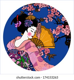 geisha. Japanese Woman.