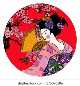 geisha. Japanese Woman