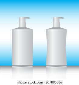Gel, Foam Or Liquid Soap ,white pump bottle vector