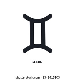 gemini isolated icon. simple element illustration from zodiac concept icons. gemini editable logo sign symbol design on white background. can be use for web and mobile