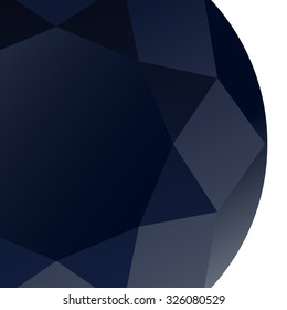 Gems diamond sapphire background vector, abstract geometric luxury style and sharp three dimensional graphics text box