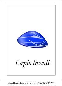 Gemstone blue lapis lazuli illustration