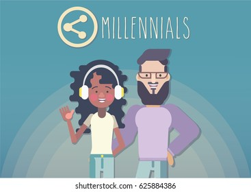 Gen y. marketing to millennials. Gen millennials. 1981-1995 years.