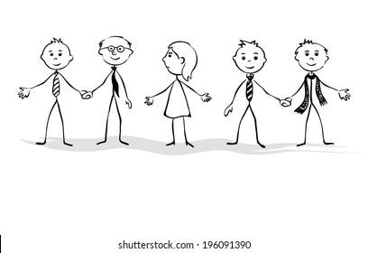 Gender equality in business, vector illustration