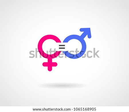 gender equality concept icon pink blue のベクター画像素材