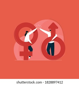 gender equality concept, sexuality concept with male and female icon, women's rights
