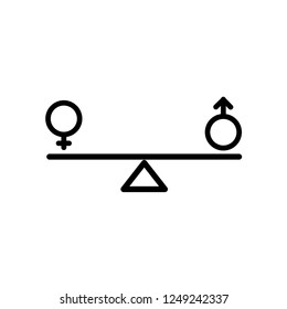 gender, equality icon vector
