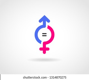Gender Equality Logo concept.