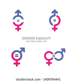 Gender Equality Symbols - 4 Icons