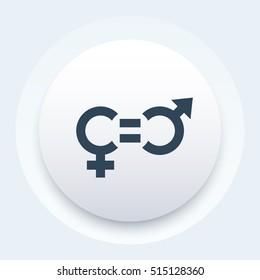 gender equity icon, trendy round pictogram