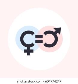 gender equity symbol, icon