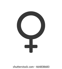 gender female circle sign icon. Isolated and flat illustration. Vector graphic