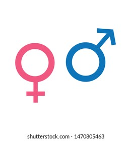 Gender icon for graphic and web design