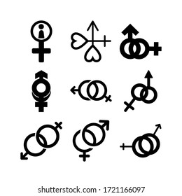 gender icon or logo isolated sign symbol vector illustration - Collection of high quality black style vector icons