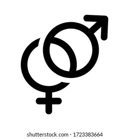 gender icon or logo isolated sign symbol vector illustration - high quality black style vector icons