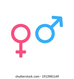 Gender icon, Male and Female icon symbol vector illustration.