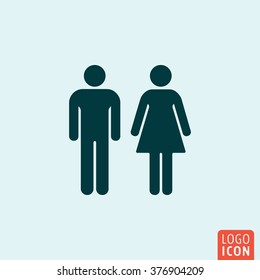 Gender icon. Man and Woman icon isolated minimal design. Vector illustration.