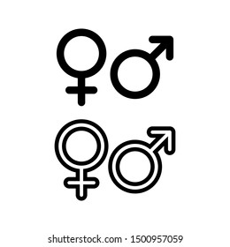 Gender icon. Man and Woman icon . Male and Female symbol vector sign isolated on white background illustration for graphic and web design.