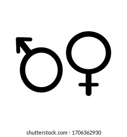Gender icon. Man and Woman icon . Male and Female symbol vector sign isolated on white background