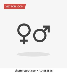 Gender Icon in trendy flat style isolated on grey background. Gender symbol for your web site design, logo, app, UI. Vector illustration, EPS10.