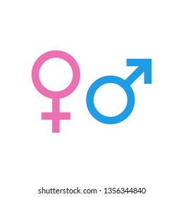 Gender icon vector. Male and female symbol