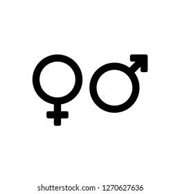 gender icon vector, on white background editable eps10