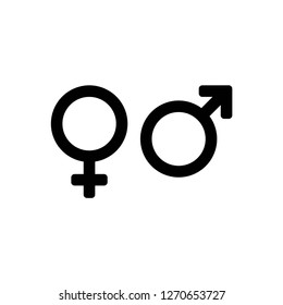 gender icon images stock photos vectors shutterstock https www shutterstock com image vector gender icon vector on white background 1270653727
