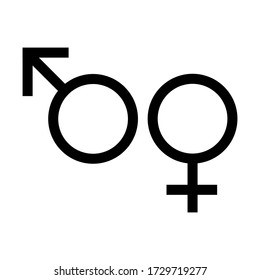 gender icon vector sign isolated on white background