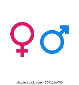gender icons- male and female vectors.