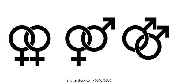 Lgbt Symbols Gender Identity Sexual Orientation Stock Vector
