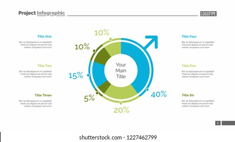 Gender infographics slide template. Business data. Graph, diagram, design. Creative concept for infographic, report. Can be used for topics like voting, survey, statistics